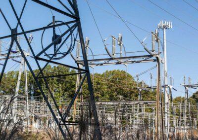 Keene Mill Substation, Dominion Power (130′ Monopole)