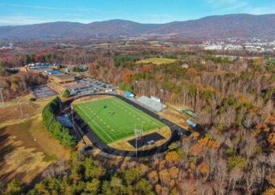 Western Albermarle High School, Albemarle County Public Schools (100′ Cluster Mount Pole)